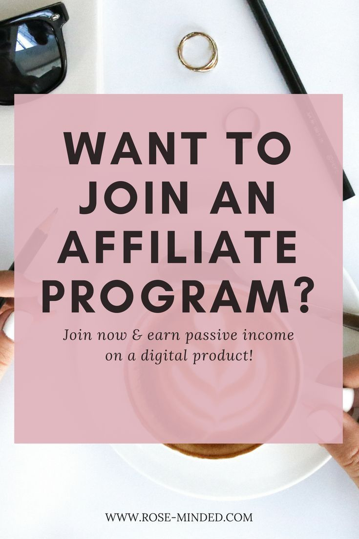 Want to join an affiliate program to make a passive income through