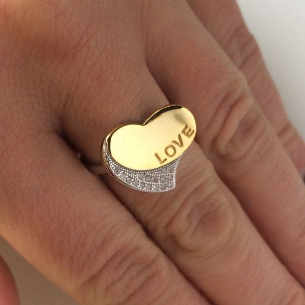 LOVE MORE silver ring