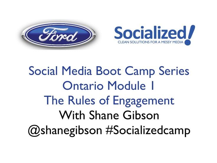 rules-of-engagement-in-social-media-ford-social-media by Shane Gibson via Slideshare