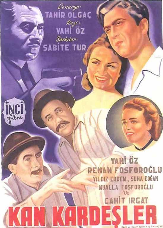 Türk Nostalji - Fotogaleri - Kan Kardeşler (1952) filminin afişi