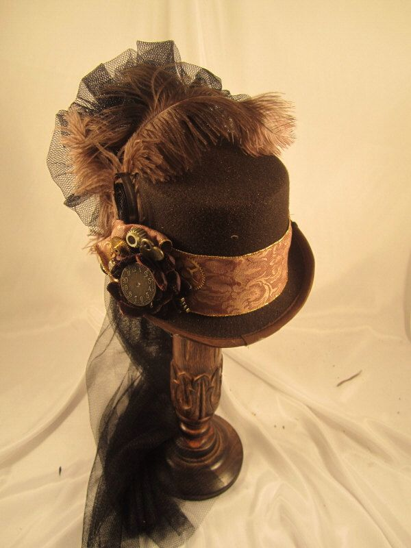 STEAMPUNK TOP HATS, Steampunk Store,  Steampunk Emporium, Clock Parts, Pheasant Feathers by EmilyWayHats on Etsy https://www.etsy.com/uk/listing/247221987/steampunk-top-hats-steampunk-store
