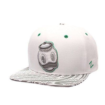 wholesale dealer fb3b4 510e9 NCAA Oregon Ducks Mens Lahaina Snapback Cap, Adjustable Size, White