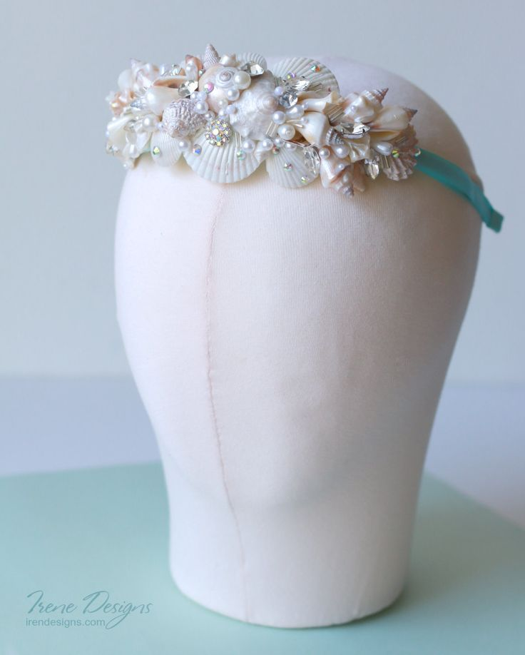 Ready to ship  Will be sent within 2-3 working days (excludes holidays)  -------------------------------------oooOOOooo----------------------------------------  This romantic and sweet headband is unique. It is 100% handmade. I have made it from pieces of shells which I found on the beach, crystals, beads and brooches. It exists in a single copy.  This pretty and simple hair accessory will complete your romantic wedding look or you can use it for beach party. headband size is adult…