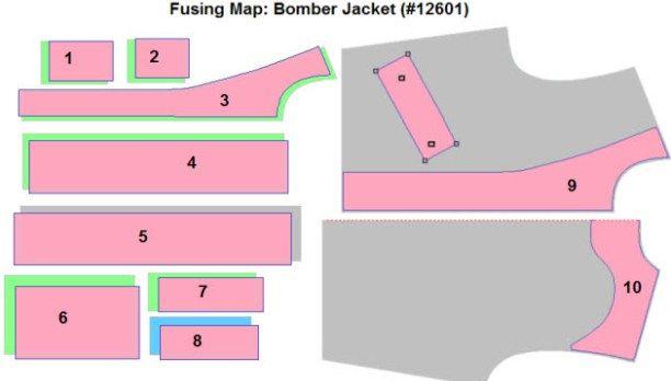 Fusing Map: Bomber Jacket (#12601)