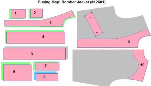 Fusing Map: Bomber Jacket (#12601)