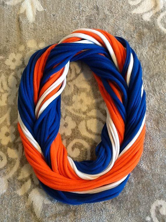 Denver Broncos NFL Football - T Shirt Scarf  Infinity Scarf Belt -