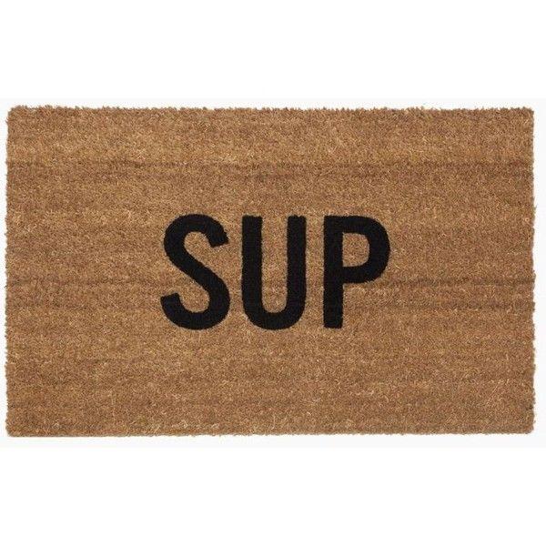 Reed Wilson Design Sup Doormat Brown Drmt106 found on Polyvore featuring home, outdoors, outdoor decor, sporting goods, coir doormat, coir door mat and brown door mat