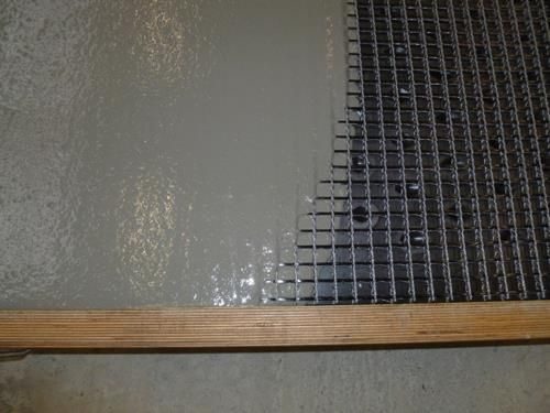 Carbon Fiber Concrete Epoxy Coated Carbon Mesh Allows For