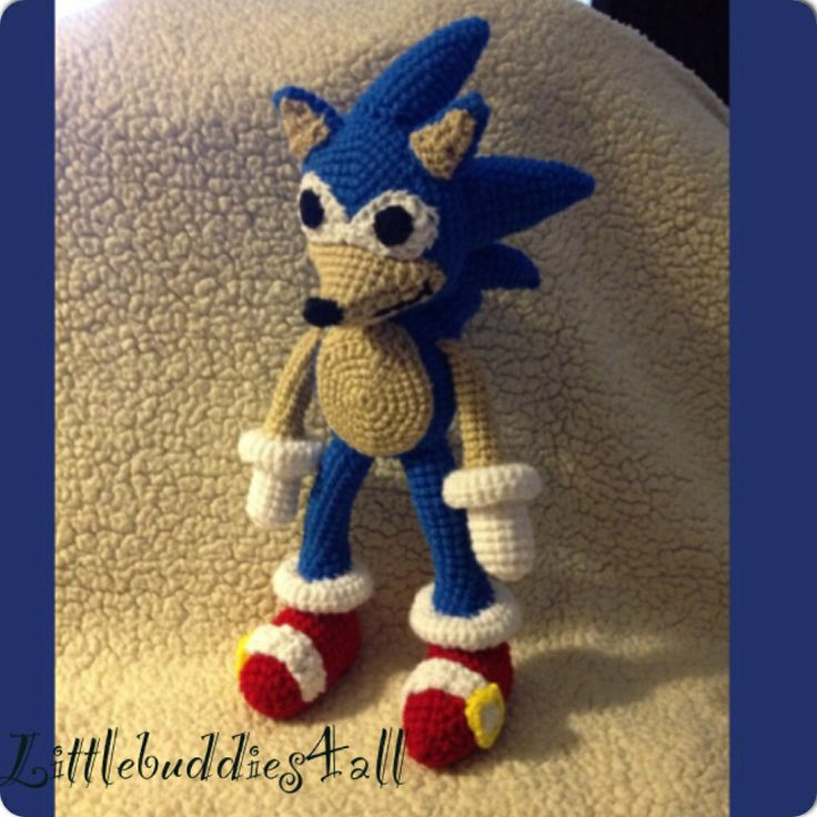 Knitting Pattern Sonic Hedgehog : 208 best images about Littlebuddies4all Customized crochet ...