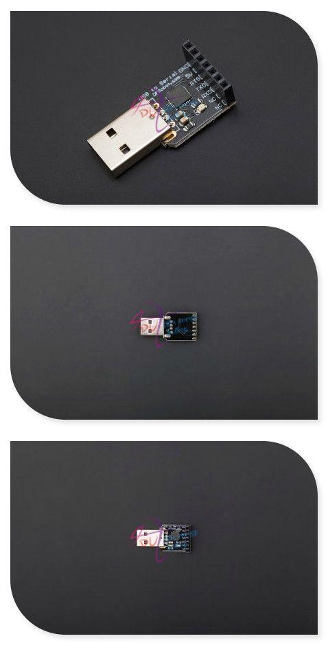 DFRobot 100% Genuine USB to TTL/CMOS Converter, CP210x CP210 5V for APC220 RF wireless module / Bluetooth serial module
