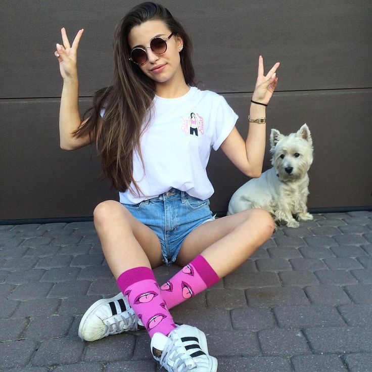 Outfit with colorful socks