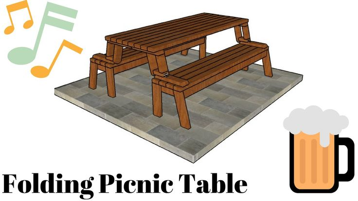 29 best home improvement projects images on pinterest - Folding picnic table plans free ...