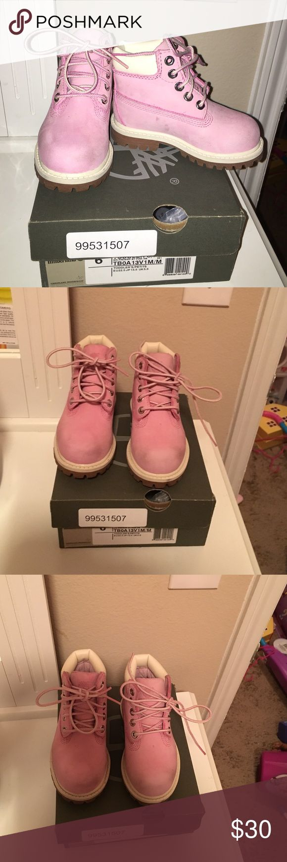 Used Pink Timberlands Fairly New Condition Light Pink TimberLand Boots For Toddler Girls Shoes Boots
