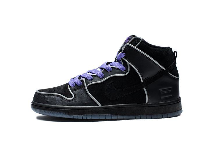 Nike auto flight high black purple dress