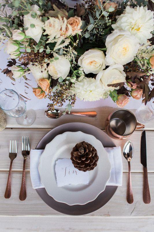 Earthy winter wedding inspiration