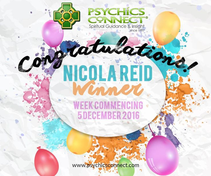 Congratulations to Nicola Reid for winning our weekly Win a FREE 10-minute Psychic Reading draw.