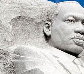 The centerpiece of the Martin Luther King Memorial is a 30-foot statue of Dr. King.