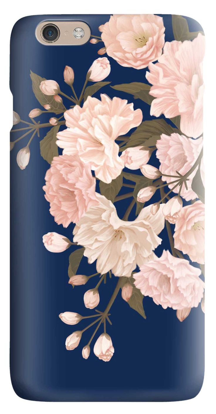 Whatskin DIY Style Artistic Flowers Series 02 Hard Back Cover for iphone 6