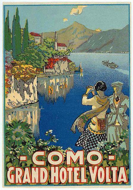Vintage Italian Posters ~ #illustrator #Italian #posters ~ como. italy.