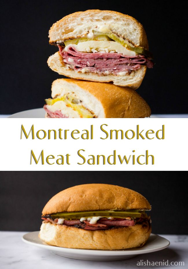 Montreal Style Smoked Meat Sandwich