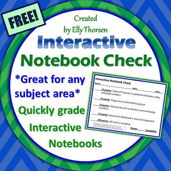 As a science teacher with around 200 students I needed to find a way to quickly grade interactive notebooks while also providing feedback to students. After trying several different grading methods I developed this quick and easy grading checklist that allows you to grade interactive notebooks at a glance.