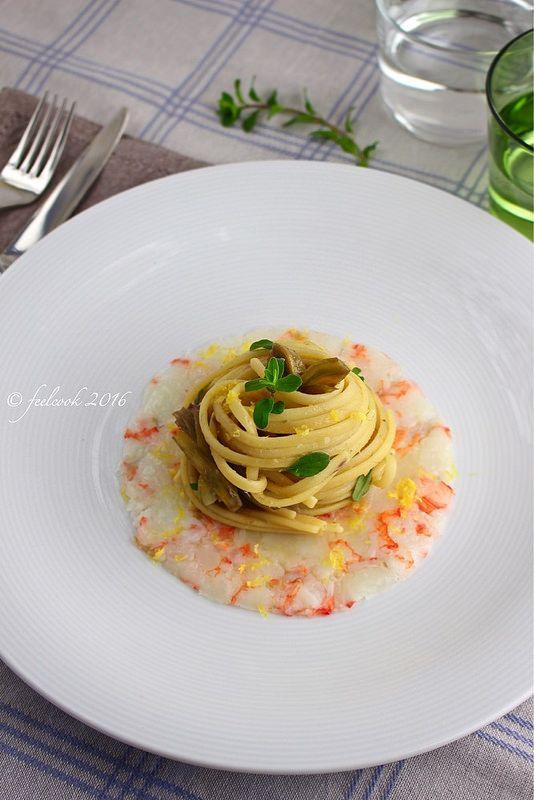 FeelCook cucina per passione: Linguine carciofi e gamberi