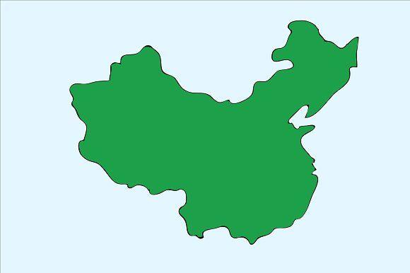 Hand Drawing China Map (Vector) by charnsitr on @creativemarket