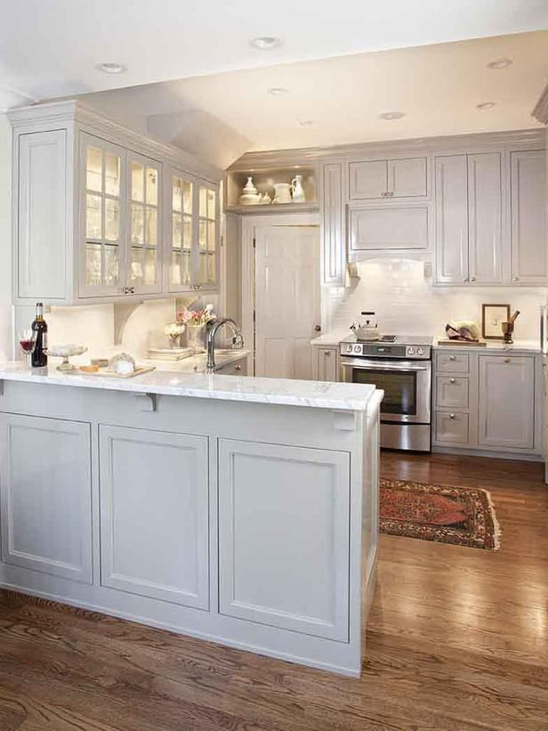 Modern White Kitchen with Marble Countertops : Designers' Portfolio : HGTV  - Home & Garden Television