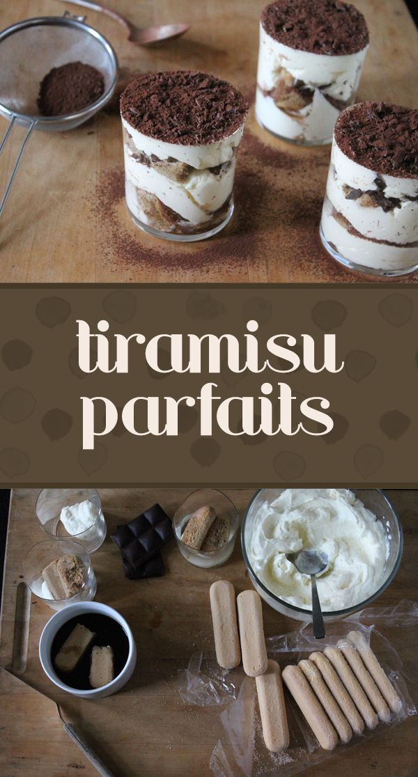 It doesn't get any easier! In a rush to get dessert made before family arrives? Try these delicious tiramisu parfaits.