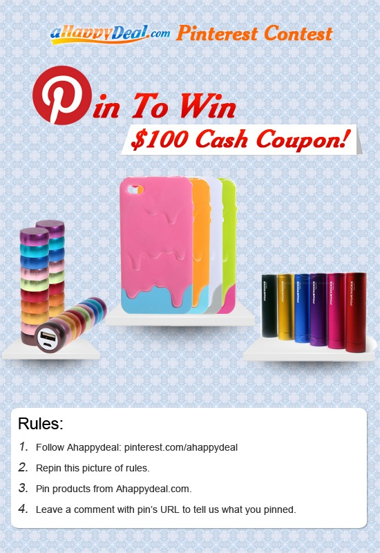lol! Ahappydeal $ 100 cash coupon to gain! *How to win-> 1. Follow us: pinterest.com/ahappydeal; 2. Repin this pin; 3. Pin pic(s) from Ahappydeal.com; 4. Leave comment with your pin's URL here: 3 winners to get $ 50, $ 30, $ 20 Cash Coupon randomly! Ends on: Dec,31th.