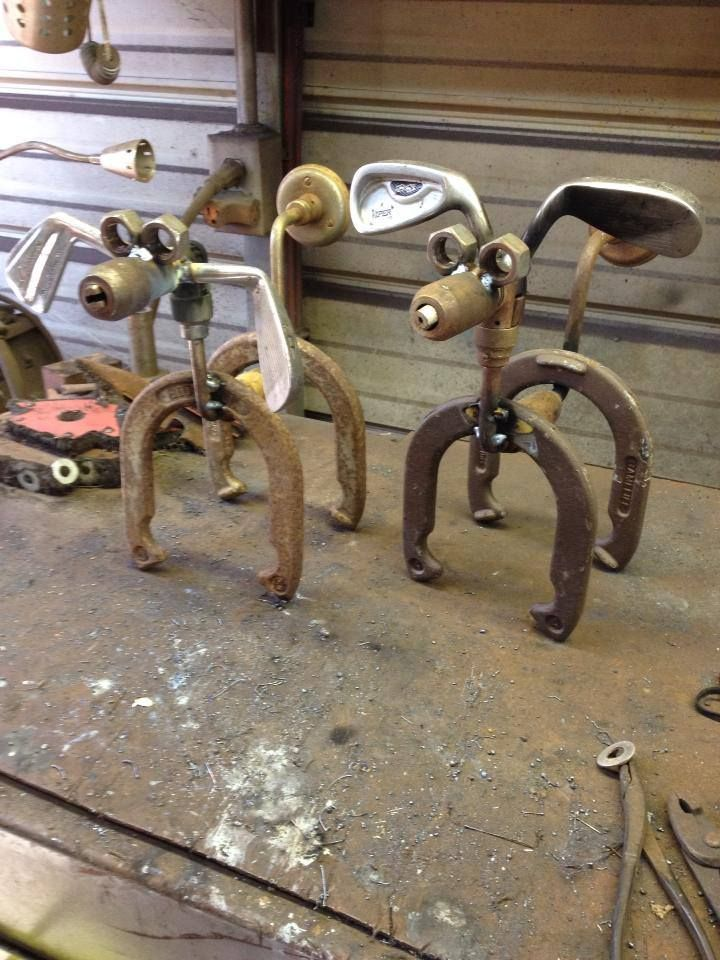 Too bad I don't remember finding any old game horseshoes in the garage.