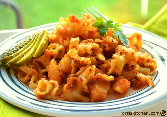 Pasta with paprika and potato/Krumplistészta Orsi's Kitchen