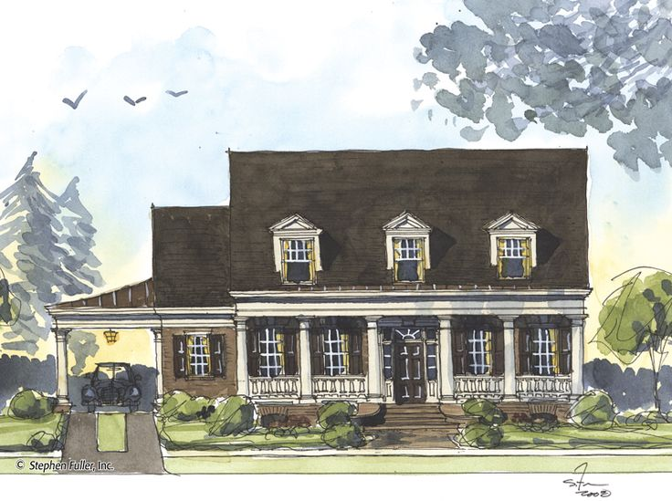 17 best images about stephen fuller on pinterest house for Cottage house plans with porte cochere