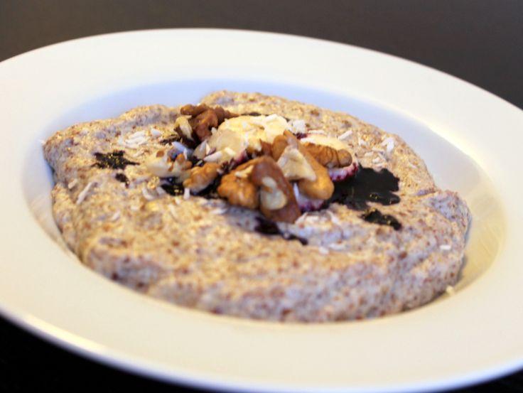 Paleo porridge (hørfrøgrød) med banan