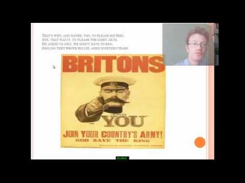 An explanation and analysis of Wilfred Owen's Disabled for GCSE and A Level students - YouTube