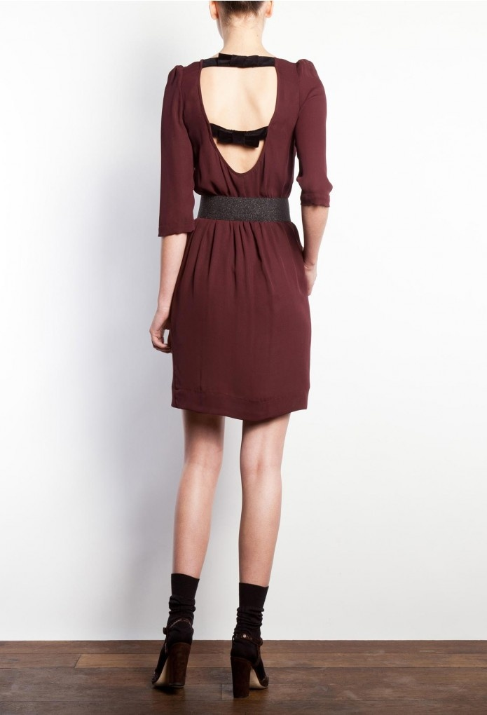 robe roxane bordeaux claudie pierlot daily inspiration pinterest robes bordeaux and html