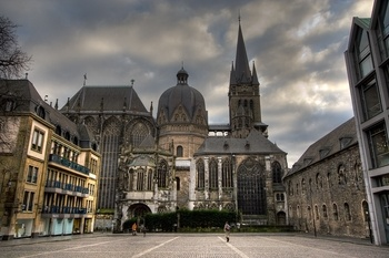 Aachen Cathedral - Built by Charlemagne in 805 AD in Aachen, Germany