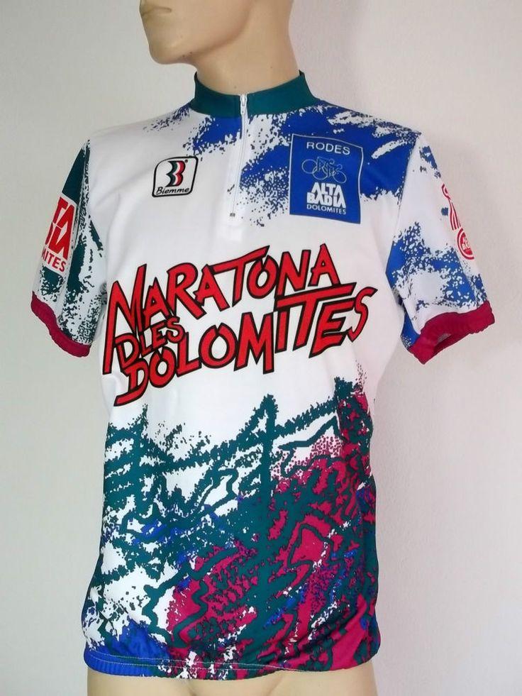 Cycling Jersey mens Size XL Race Fit BIEMME Alta Badia Dolomites Rodes