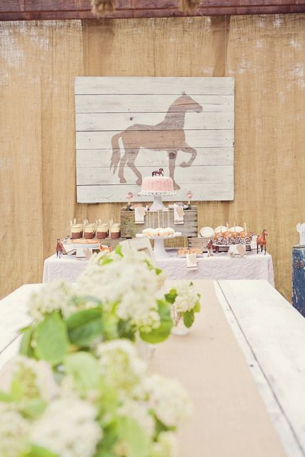 """Photo 1 of 36: Pink Brown Vintage Ponies / Birthday """"Vintage Pony Party"""" 