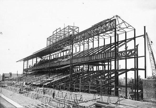 East Stand under construction at White Hart Lane in 1934 #Spurs