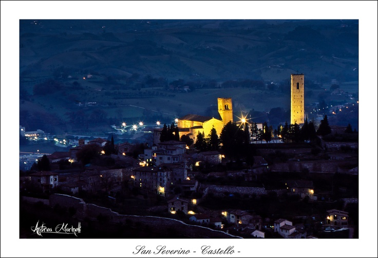 San Severino Marche by night
