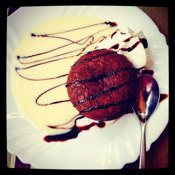 Moelleux au chocolat, glace vanille et crème anglaise