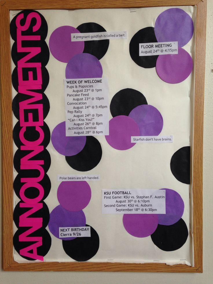 Ideas For Announcement Boards : Fun announcements bulletin board cute and ra