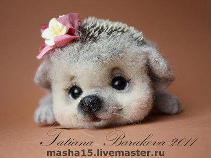 *NEEDLE FELTED ART ~ Toy animals, handmade.  Fair Masters - handmade Ezhinka.  Handmade.