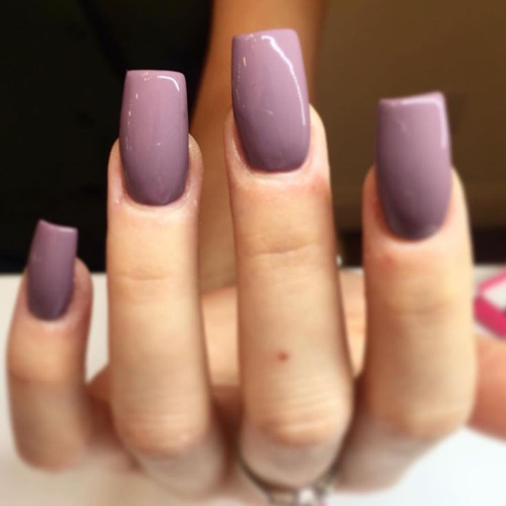 Love that pretty plum color, not the length/shape of those nails....