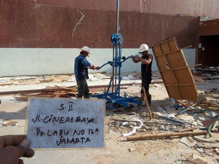 Soil investigation Cinere, Jakarta, Indonesia. Building plan.