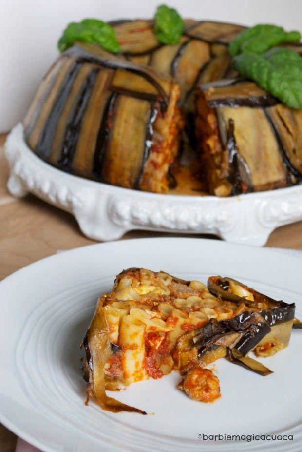 Timballo di ziti alla siciliana (Oven baked pasta timbale sicilian style) Beautiful and so tasty! #Italian-food #pasta