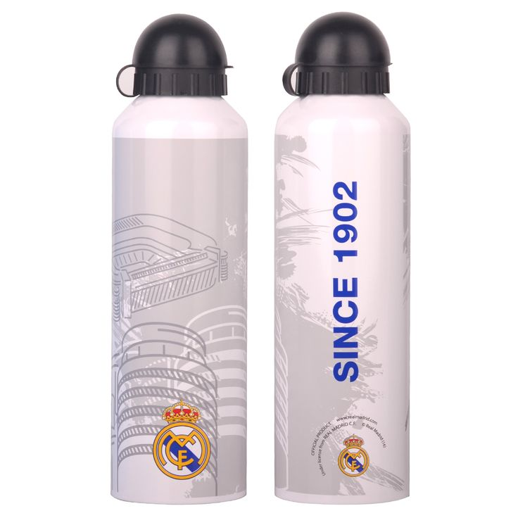 Real Madrid C.F. Stainless Steel Drinks Bottle WHT EST - Rs. 899 Official #Football #Merchandise from #LaLiga