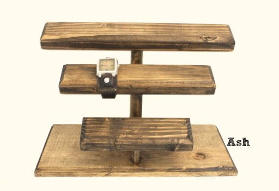 Wooden Jewelry Display Wood Watch Display Watch by ArrayandDisplay