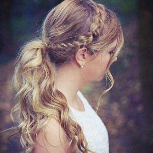 Lindo Peinado con coleta moderno